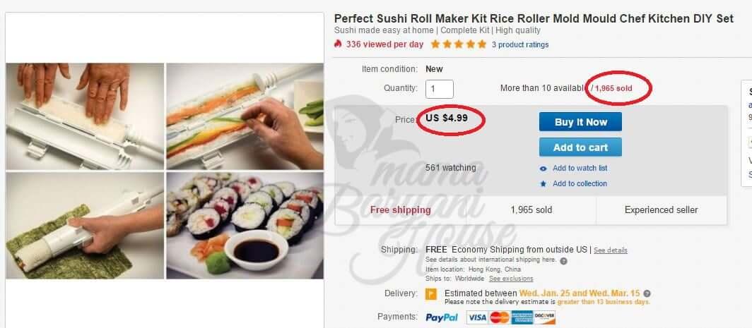 langsai hutang kad kredit dengan sushi maker